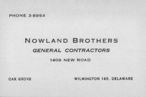 NOWLAND BROTHERS FOUNDED